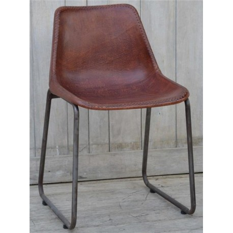 Genuine Leather Dining Chair Blackbrook Interiors