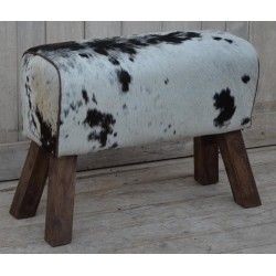 Cowhide 'Hair On' Pommel Horse Style Leather Bench / Stool