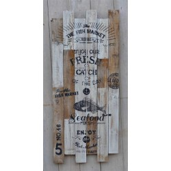Wooden 'Catch of the Day' Sign / Wall Plaque