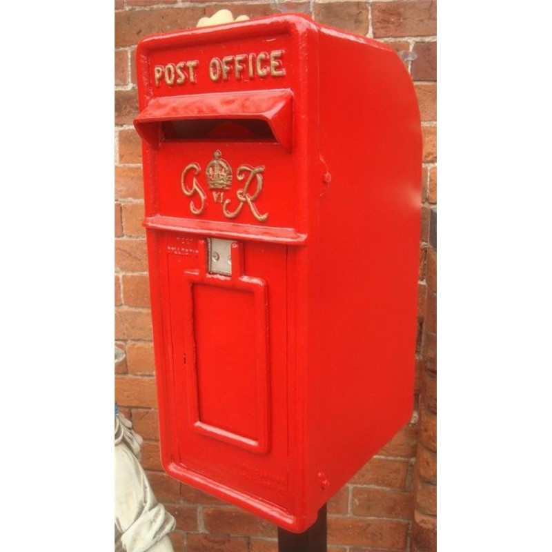 Cast Iron Replica Royal Mail GR Red Post Box