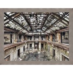 Abandoned Industrial Warehouse Framed Wall Art - 180cm x 140cm