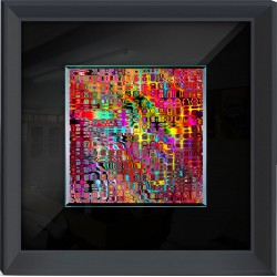 Abstract Contemporary Framed Wall Art - 60cm x 60cm
