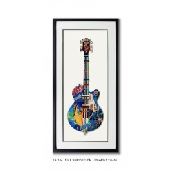 Decoupage Guitar Blue