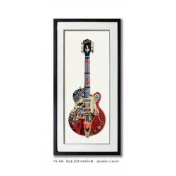 Decoupage Guitar Red