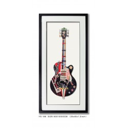 Decoupage Guitar Black
