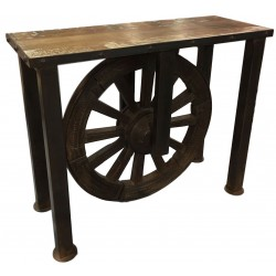 Vintage Console Table with Wheel