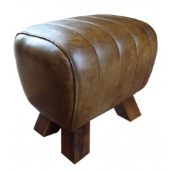 Genuine Leather Stool Pommel Horse Style