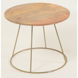 Retro / Vintage Style Solid Mango Wood Small Coffee Table