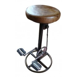 Retro Recycled Bicycle Pedals Bar Stool