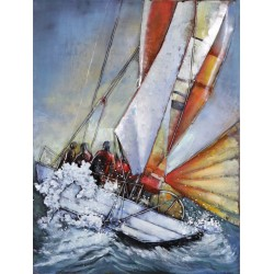 Sailing Boat 3D Metal Wall Art