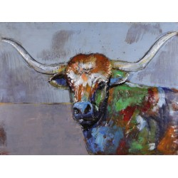 Highland Cow 3D Metal Wall Art