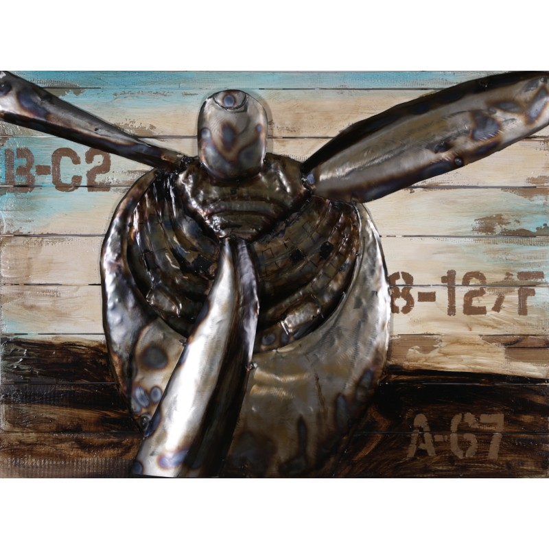 Plane Propeller 3d Metal Wall Art Blackbrook Interiors