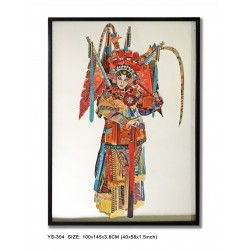 Decoupage Peking Opera Lady