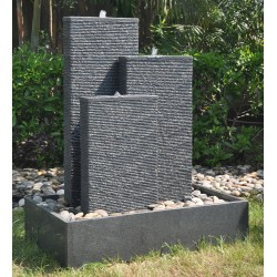 Contemporary Granite Fountain - 120cm x 100cm - Triple Design - Self Contained