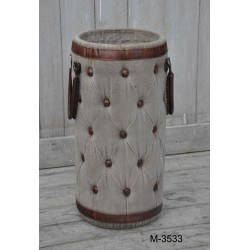 Canvas and Leather Umbrella Stand