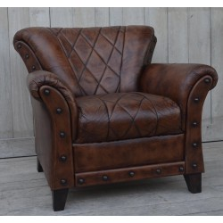 Genuine Leather Armchair