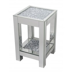 Mirrored Glass Bedside Table