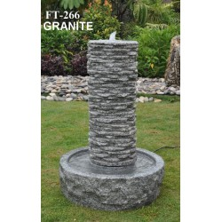 Granite Fountain / Water Feature - 65cm High - Indoor or Outdoor
