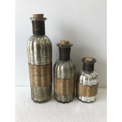 Set of 3 Decorative Glass Vases