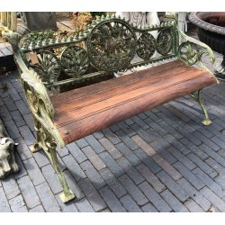 Cast Iron Bench with Wooden Seat