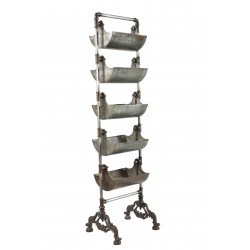 Industrial Tiered Stand with Metal Baskets