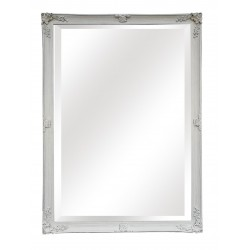 "Huge Wall Mirror - White - 78"" x 54"""
