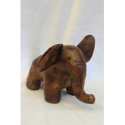 "Leather Standing Elephant 6"" x 9"""