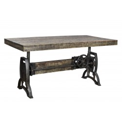 Industrial Dining Table / Bar Table - Adjustable Height