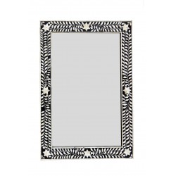 Black and White Bone Inlaid Mirror