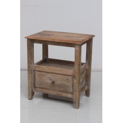 Side table 1 Drawer in Natural Honey Finish