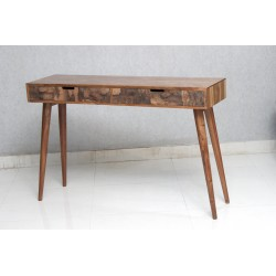 Console Table with Copper Veneer Drawer Front