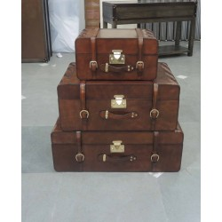 Set of 3 Briefcases - Green