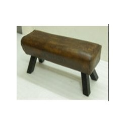Genuine Leather Pommel Horse Style Bench Seat