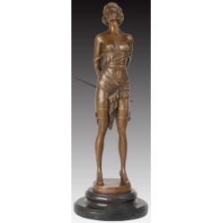 Bronze Art Deco Erotic Lady 'The Riding Crop'