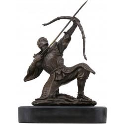 Bronze Japanese Samurai Warrior Archer