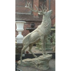 Bronze sculpture of large Stag with antlers