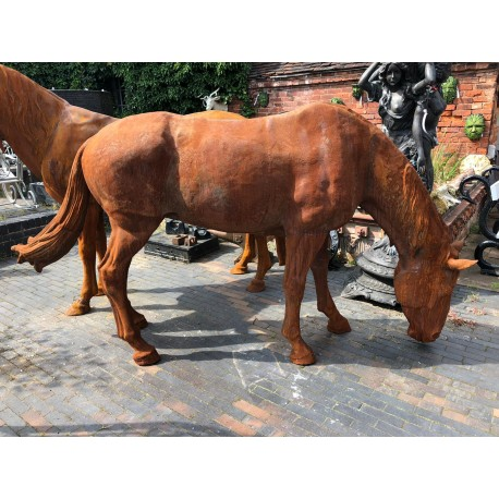 Cast Iron Life Size Horse Sculpture Incredibly Life Like