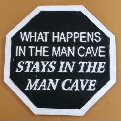 Cast Iron Man Cave Plaque