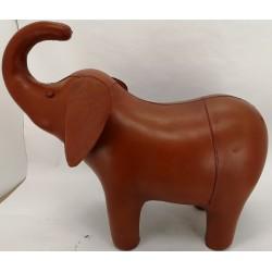 Large Handmade Leather Elephant Footstool