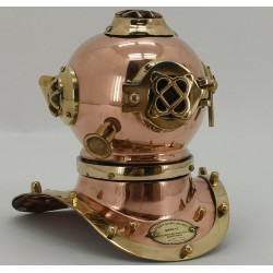 Small Copper and Brass divers helmet