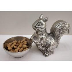 Squirrel snack bowl - Silver Nickel