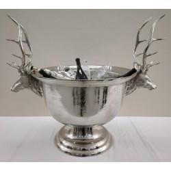 Silver Nickel Stags head ice bucket - 107 cm x 90 cm