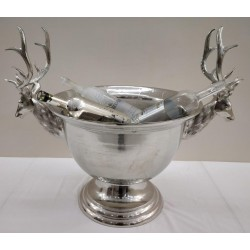Silver Nickel Stags head ice bucket - 84 cm x 67.5 cm