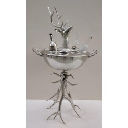 Floor standing Stag and Antlers ice bucket