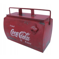 Vintage Style Small Coke Drinks Cooler