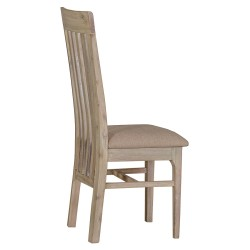The Bromley Collection: Solid Acacia wood Dining Chair with slatted back