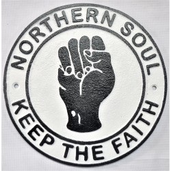 Vintage style cast Iron wall sign - Northern soul