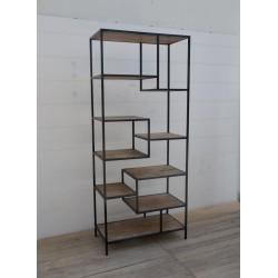 Wooden and iron Industrial Shelf Unit