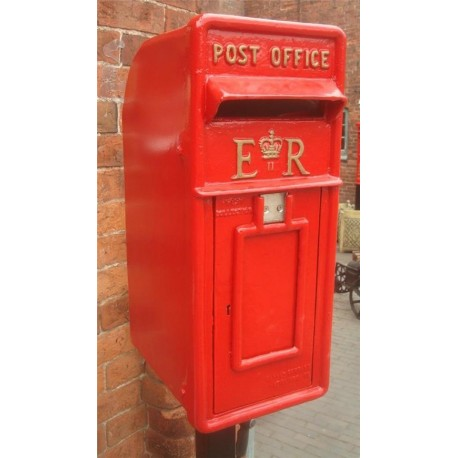 Royal Mail Letter Box.Cast Iron Replica Royal Mail Er Red Post Box Blackbrook Interiors