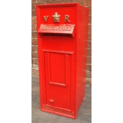 Cast Iron Replica Royal Mail VR Red Post Box